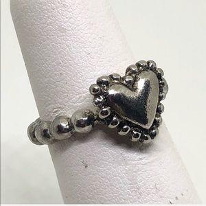🆕Vintage Pewter Heart Ring